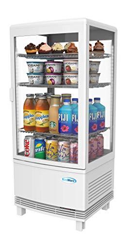 KoolMore Countertop Display Refrigerator - Commercial Beverage Cooler with LED Lighting - 3 cu. ft Capacity