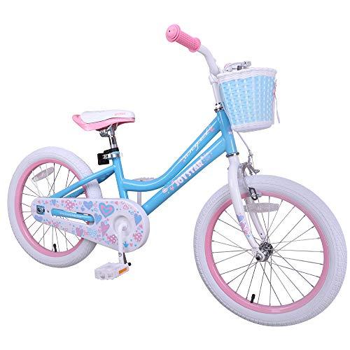 Hiland Bici per bambini 5+ anni Space Shuttle da 18 pollici, supporto per bicicletta per bambini