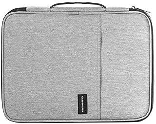 Yuanzengjunfva Document Storage Bag Single Layer Portable Multi-Card Waterproof Function Men's Bag (Color : Grey)