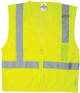 ML Kishigo 1089 Ultra-Cool Polyester Zipper Front 1 Pocket Vest, Extra Large, Lime
