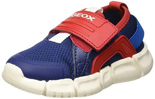 Geox Baby Jungen B FLEXYPER Boy D Sneaker, Blau (Navy/Red C0735), 23 EU