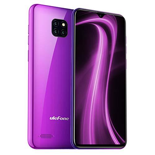 Teléfono Móvil Libre, Ulefone Note 7 Android 9 Smartphone, Pantalla 6.1' Water-Drop Screen Móvil, Smartphone Barato Dual SIM, Batería 3500 mAh, 8MP + 2MP + 2MP, 16GB ROM (SD 64GB), Face ID (Aurora)