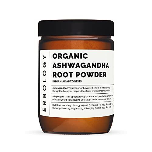 Organic Raw Ashwagandha Powder 7.8 oz - Adaptogen - Sustainably Sourced from India