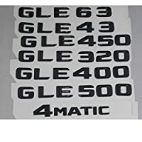 OceanAutos メルセデスベンツGLE43 GLE63 GLE450 AMG GLE320 GLE400 GLE500 GLE550 4MATIC、ブラックトランク文字番号バッジバッジエンブレム