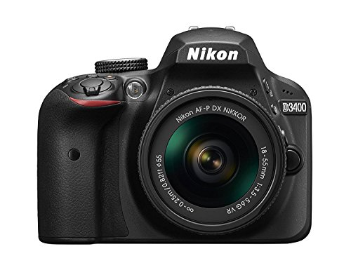 Nikon D3400 DSLR Camera w/ AF-P DX NIKKOR 18-55mm f/3.5-5.6G VR Lens, Black (Renewed)