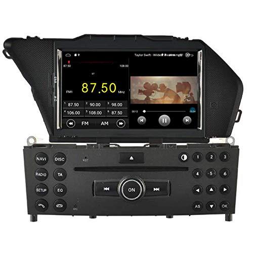 JFFFFWI Android 10 Auto DVD-Player GPS Stereo Head Unit Navi Radio Multimedia WiFi für Mercedes Benz GLK 2008 2009 2010 2011 2012 Lenkradsteuerung