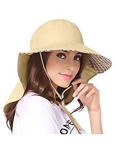 Unisex UV Protección Gorra de Safari con 25cm Cuello...