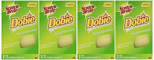 Scotch-Brite Dobie All Purpose Cleaning Pads – 3-Count – 4 Pack (12 Pads)