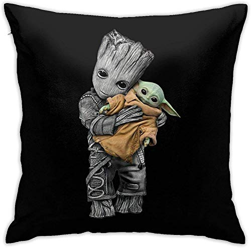 The Child Baby Yo-DA and G-Root Square Pillow cover sofa decorative cushion cover 45 X 45 cm fashionable and comfortable zipper sofa bed chair