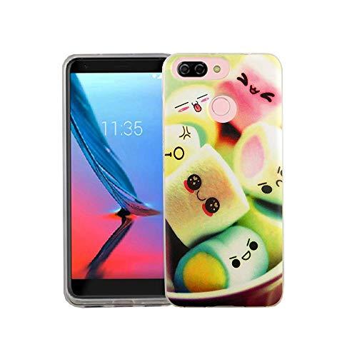 König Design Handy-Hülle kompatibel mit ZTE Blade V9 Vita Silikon Case Hülle Sturzsichere Back-Cover Handyhülle - Marshmallows