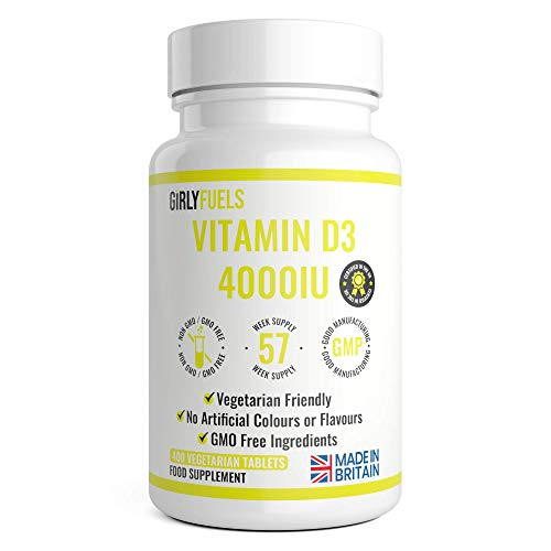 Vitamin D 4000iu - 400 Premium Vitamin D3 Easy-Swallow Micro Tablets - One a Day High Strength Cholecalciferol VIT D3 - Vegetarian Supplement - Made in The UK