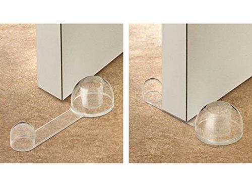 INOFIX 2760B123 - Retenedor de Puerta Flexible y Adhesivo, Transparente, 27 x 40 x 108 mm