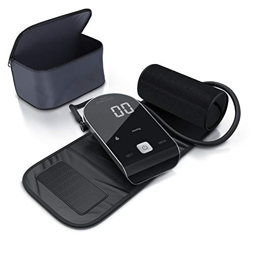Medicinalis - Tensiómetro de brazo digital - Monitor de presión arterial y pulso - Detección de arritmia - Brazalete 22 a 42 cm - 2 perfiles - Memoria de hasta 90 datos de medición - Gran pantalla LED