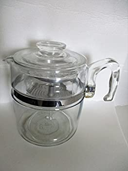 Vintage Pyrex 9 cup Flameware Percolator w/ Glass Stem and Basket
