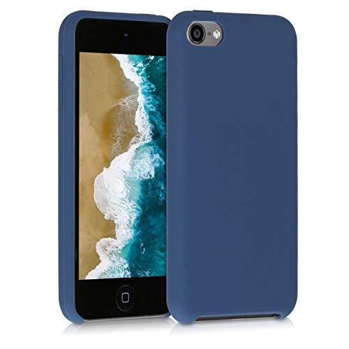 kwmobile Hülle kompatibel mit Apple iPod Touch 6G / 7G (6. und 7.Generation) - Silikon Schutzhülle gummiert - Cover Case in Dunkelblau