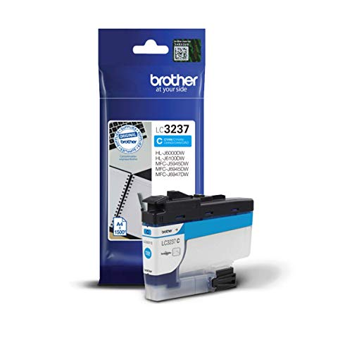 Brother Original Tintenpatrone LC-3237C Cyan (für Brother HL-J6000DW, HL-J6100DW, MFC-J5945DW, MFC-J6945DW, MFC-J6947DW) ca. 1500 Seiten nach ISO Standard 24711