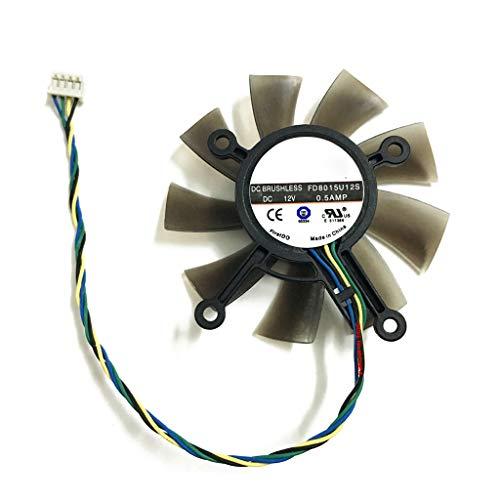 SUCHUANGUANG 75MM FD8015U12S DC12V 0.5AMP 4PIN Ventilateur de Refroidissement pour GTX 560 GTX550Ti HD7850 Carte vidéo Graphique Ventilateurs de Refroidissement de Carte