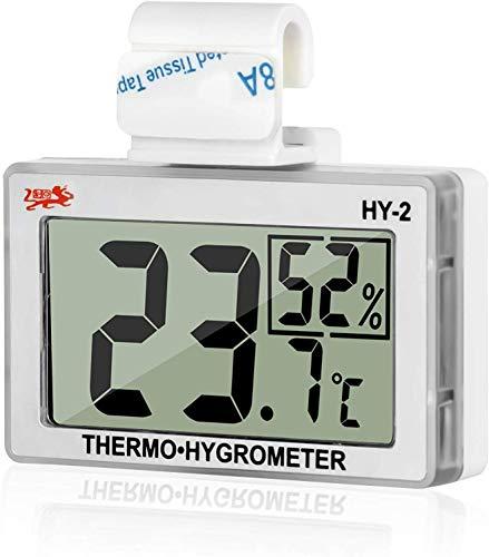 GXSTWU 温度計 爬虫類 湿度計 デジタル HD液晶 ベルクロ フック付き 温湿度計 爬虫類タンク テラリウム 飼育室 ビバリウム用 (一本)