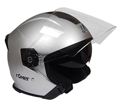 Römer Helmets Motorradhelm Koblenz, Silber Matt, Größe L