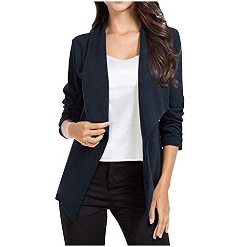 Komise Frauen Plus Size Dünne Büro Dame Revers Langarm Mantel Anzug Schlanke Strickjacke Tops