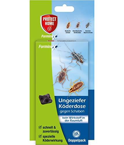 PROTECT HOME Ungeziefer Köderdose Forminex gegen Schaben (ehem. Bayer Garten Blattanex), geruchlose Köderstation im Doppelpack