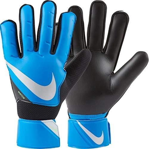 Nike Guanti Portiere Unisex Adulto, Goalkeeper Match Jr Fa20 Black/Blu CQ7799 (9)
