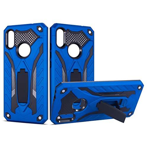 La selección de Cici A Prueba de Golpes de TPU + PC Funda Protectora con el sostenedor for Xiaomi redmi Nota 7 (Negro) (Color : Blue)