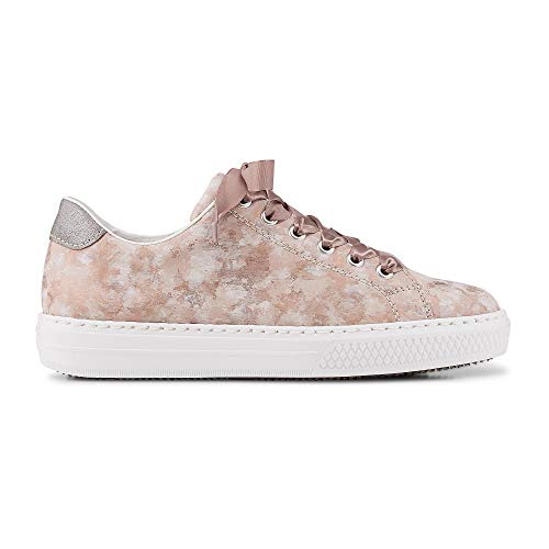 Rieker Damen L5923-32 Sneaker, Rot (Rosa/Grey 32), 40 EU