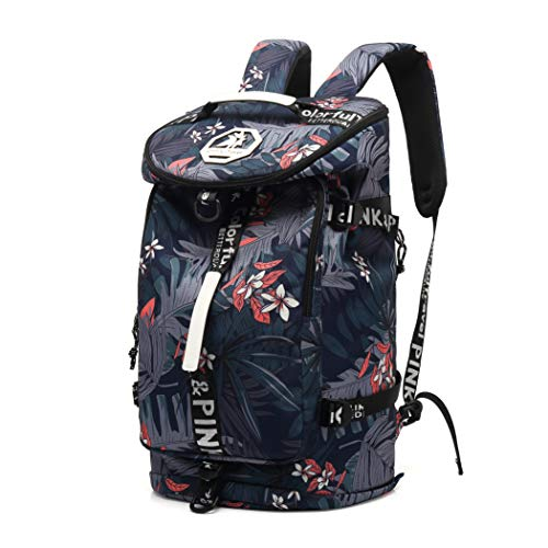 Floral Gym Duffle Bag Backpack 4 ways for Women Waterproof with Shoes Compartment for travel Sport Hiking laptop College Lightweight, Kalesi