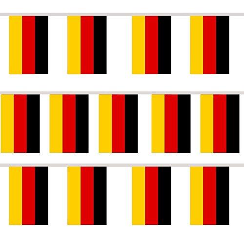 TRIXES wimpel Guirlande avec 12 Drapeaux Allemagne rectangulaire pour Les fêtes et événements Sportifs
