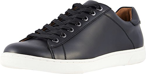 Vionic Men's Mott Baldwin Lace-up Sneaker - Casual Everyday Shoes for Men with Concealed Orthotic Support Black 7 Medium US
