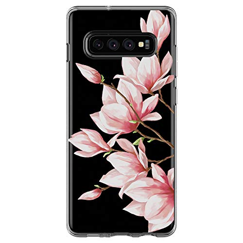 Jeack Kompatibel Mit Samsung Galaxy S10 Hülle Transparent Silikon Handyhülle Ultra Dünn Silikon Protection Farbe Blumen Muster Fit Samsung Galaxy S10 Hülle (12)