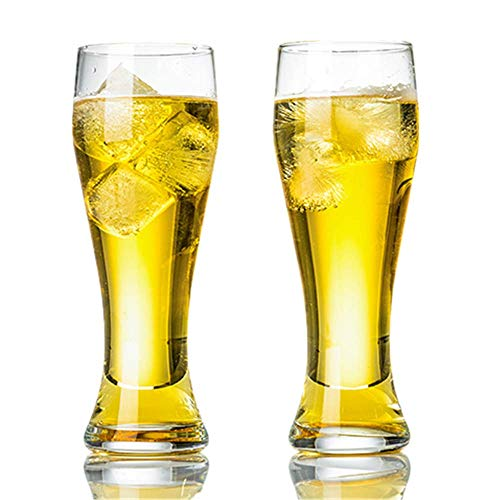 CHAOZHAOHENG Kernhaltiges Pilsnerglas - Bierglas für bessere Kopfhaltung, Aroma und Geschmack - Craft Beer Gläser für Beer Drinking Bliss - Geschenkidee für Männer - 9er Pack