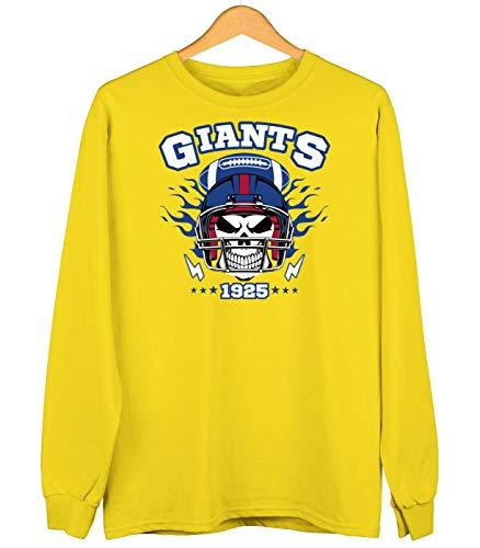 Giants American Football Skull 1925 New York New York Sweatshirt Kinder Sweater Pullover, Farbe:Sonnengelb (Sun Yellow JH030k), Größe:5-6 Jahre (116)
