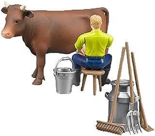 Bruder - Set con Granjero, Vaca y Accesorios 62605