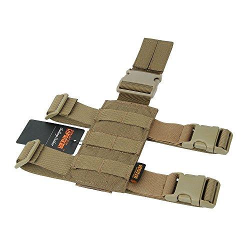 EXCELLENT ELITE SPANKER Taktisch Drop Beinholster Einstellbar Platform Molle Module Universal Tasche für linkes/rechtes Bein(Braun)