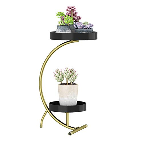 Metal Tall Plant Stand Indoor/Outdoor,Iron Flower Pot Holder Plant Holders,Flower Pot Stand, Planter Balcony Flower Pot Trays Bonsai Holder Plant Stand Shelf Black