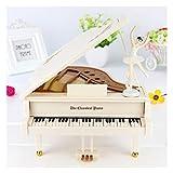 Xiix Caja de música de bebé Caja de Regalo del día de Piano Music Box con la Bailarina Blanca Musical del bailarín de Cajas de música for niñas de Navidad de San Valentín cumpleaños Regalo