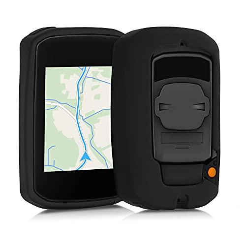 kwmobile Funda Compatible con Bryton Rider 15 Neo - Carcasa de Silicona para GPS - Cover en Negro