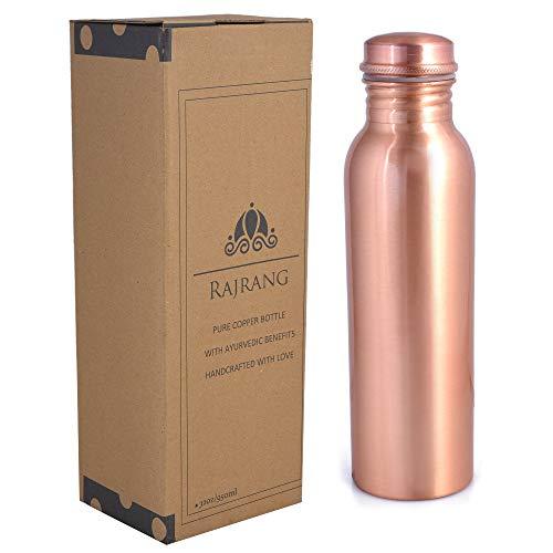 Reines Kupfer-Wasser 100% reine Flasche 1000 ML - Lecksicheres Design-Gefäß Ayurveda Health Benefits 32 Unzen für Sport, Fitness, Yoga