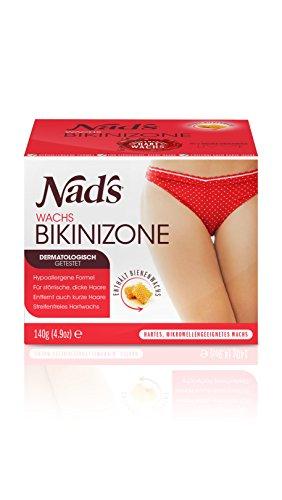 Nad's Brazilian Wax Set - Haarentfernung Wachs Bikini & Achseln, speziell für grobes Haar, keine Streifen nötig