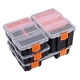 Makitoyo MP009 Hardware & Parts Organizers Versatile and Durable Storage Toolbox, 4PCS Set