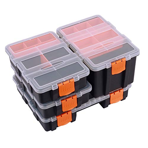 Makitoyo MP009 Hardware amp Parts Organizers Versatile and Durable Storage Toolbox 4PCS Set