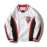 Chicago Bulls Warm Up Chaqueta Retro Rojo Blanco