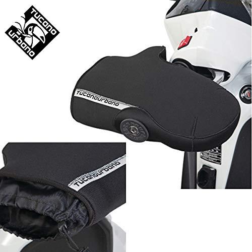 X cubremanos Manoplas Neopreno Moto Guzzi V7Tucano Urbano para Moto y Scooter Moda Negro