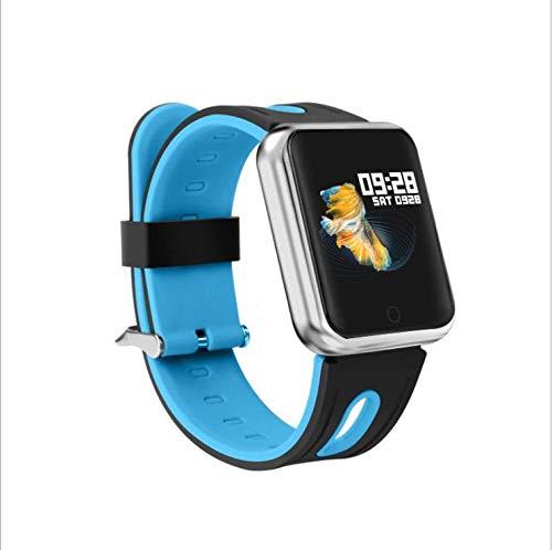 NUNGBE Pulsera Inteligente, rastreador de Fitness Deportivo para Mujer, Monitor de frecuencia cardíaca, presión Arterial IP68 Pulsera Inteligente a Prueba de Agua-Silica_Blue