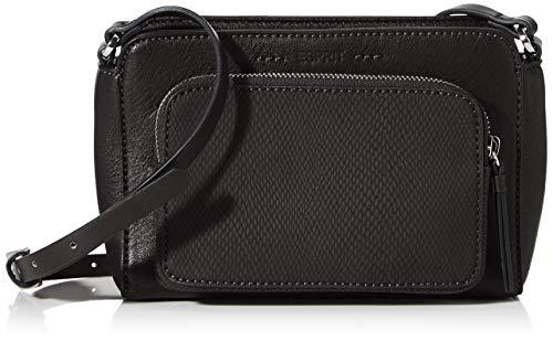 Esprit Accessoires Damen Naomi_medshbag Umhängetasche, Schwarz (Black), 7x14x21 cm