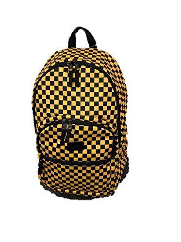 VANS Checkered Yellow Black BackPack MOTIVATEE 2 laptop Travel