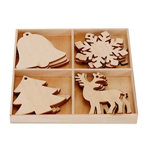 Garispace, decorazioni in legno incompiute per decorazioni natalizie in legno, decorazioni da appendere, per decorazioni fai da te