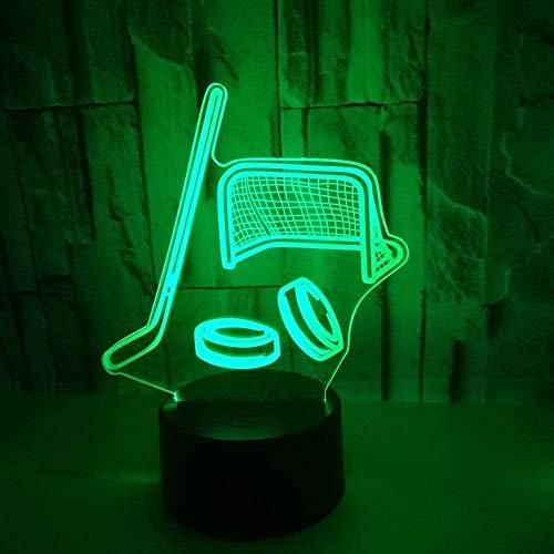 3D Nachtlicht, Led Phantom, Usb Touch Control Hockeyschläger Licht Bunte Touch Switch Fernbedienung Licht Nachtlicht Geschenk Atmosphäre